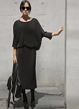 萨尔瓦多复古/古典长款裙<font color=9A9A9A><br>黑标<br>通过丹妮拉上衣与一个!</font>