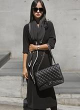 艾尔V字领连衣裙<font color=9A9A9A><br>黑标<br>请用围巾购买!</font>