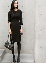 Jilsaen袖连衣裙<font color=9A9A9A><br>黑标<br>清潭法看<br>大部分订单号1</font>