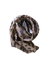 豹纹真丝围巾