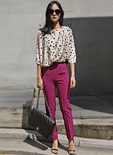 庄紫色修身裤<font color=9A9A9A><br>黑标</font>
