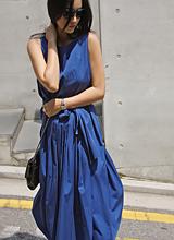丹妮拉夏天褶皱连衣裙<font color=9A9A9A><br>黑标</font>