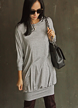 庄高棉长款女衬衫