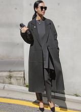 席琳手工呢子大衣