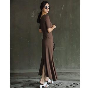 丹妮拉短袖长款连衣裙