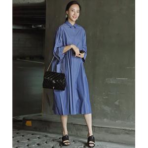 Kkambong肥大衬衫连衣裙<font color=9A9A9A><br>黑标</font>