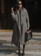萨尔瓦多精品马海毛羊驼毛呢子大衣