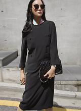 可可黑口袋连衣裙<br> <font color=9A9A9A>黑标签</font>